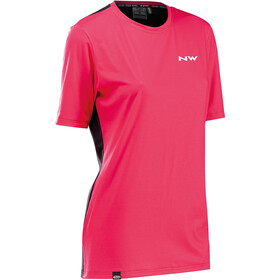 Northwave Xtrail Short Sleeve Jersey Women, black/fuchsia